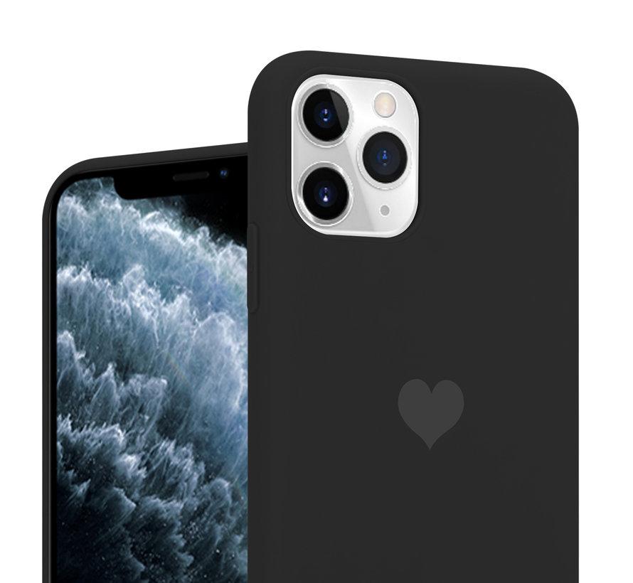 ShieldCase LOVE Silicone case iPhone 11 Pro (zwart)