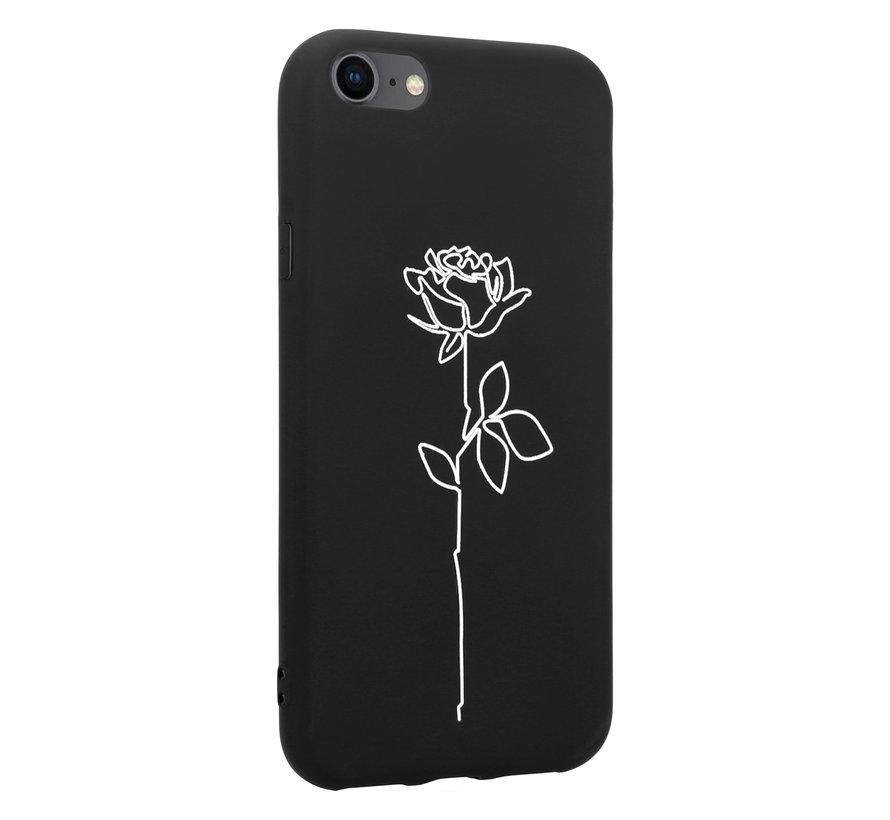 ShieldCase iPhone SE 2020  hoesje met witte roos