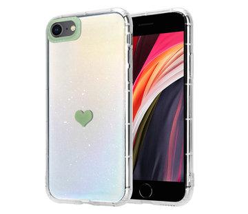 ShieldCase® iPhone SE 2020 hoesje met groen hartje