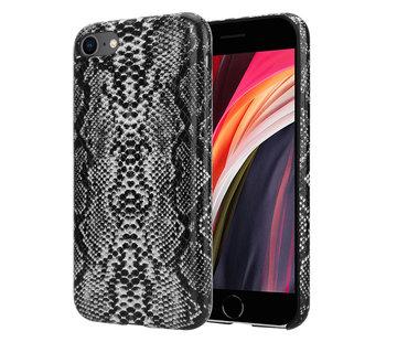 ShieldCase® Slangenleer hoesje iPhone SE2020 (zwart-wit)