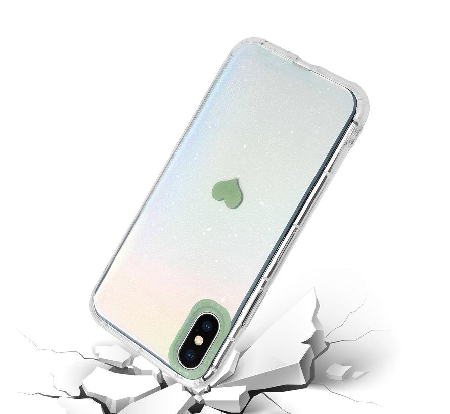 ShieldCase iPhone X / Xs hoesje met groen hartje