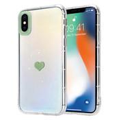 ShieldCase® iPhone X / Xs hoesje met groen hartje