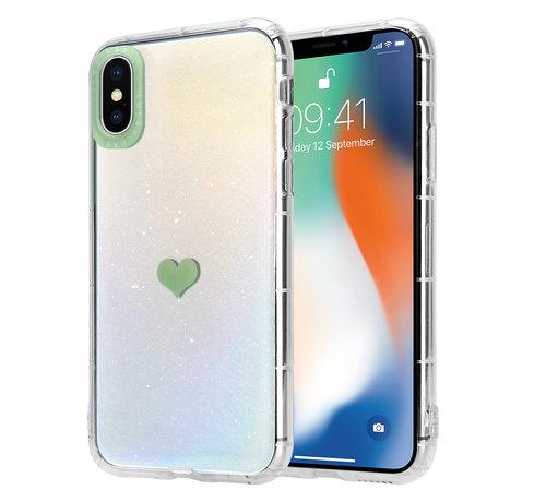 ShieldCase® ShieldCase iPhone X / Xs hoesje met groen hartje