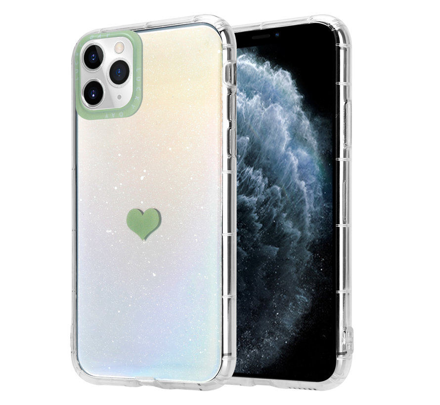 ShieldCase iPhone 11 Pro Max hoesje met groen hartje