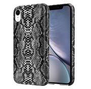 ShieldCase® Guilty Grey Snake Print iPhone Xr hoesje (wit-grijs)