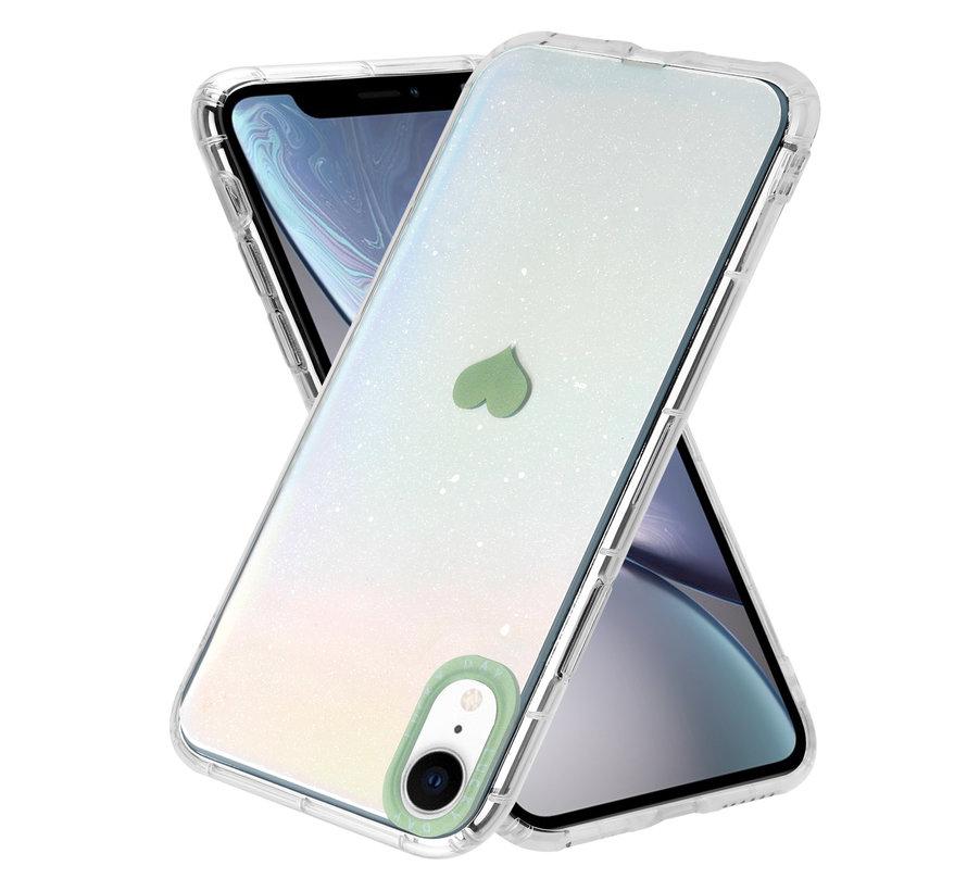 ShieldCase iPhone Xr hoesje met groen hartje