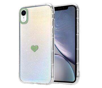 ShieldCase® iPhone Xr hoesje met groen hartje