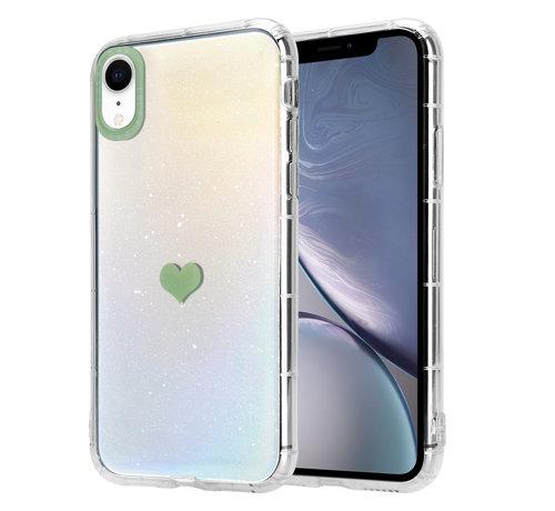 ShieldCase® ShieldCase iPhone Xr hoesje met groen hartje