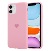 ShieldCase® LOVE Silicone case iPhone 11 (roze)