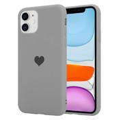 ShieldCase® LOVE Silicone case iPhone 11 (grijs)