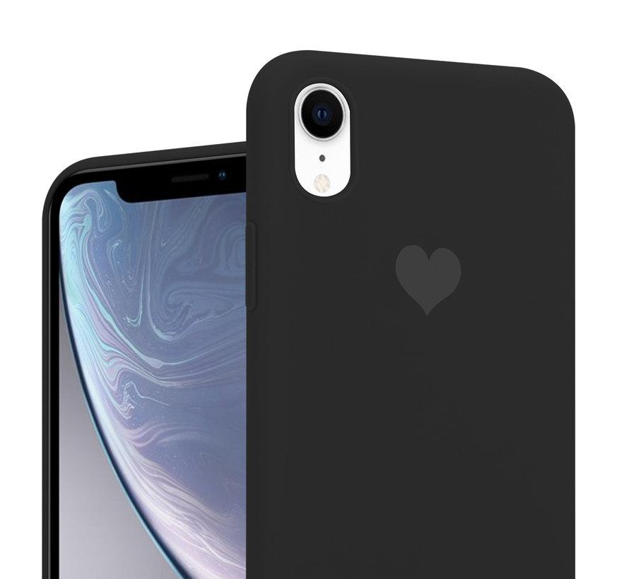 ShieldCase LOVE Silicone case iPhone Xr (zwart)