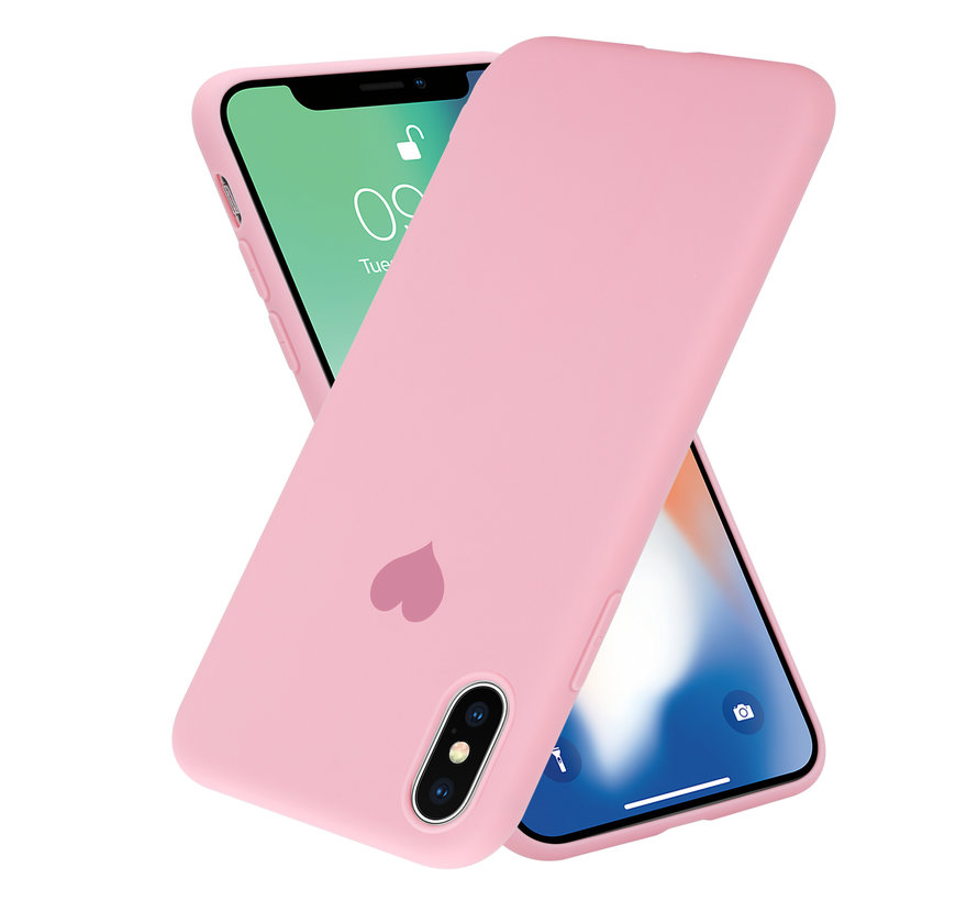 ShieldCase LOVE Silicone case iPhone X / Xs (roze)