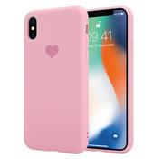 ShieldCase® LOVE Silicone case iPhone X / Xs (roze)