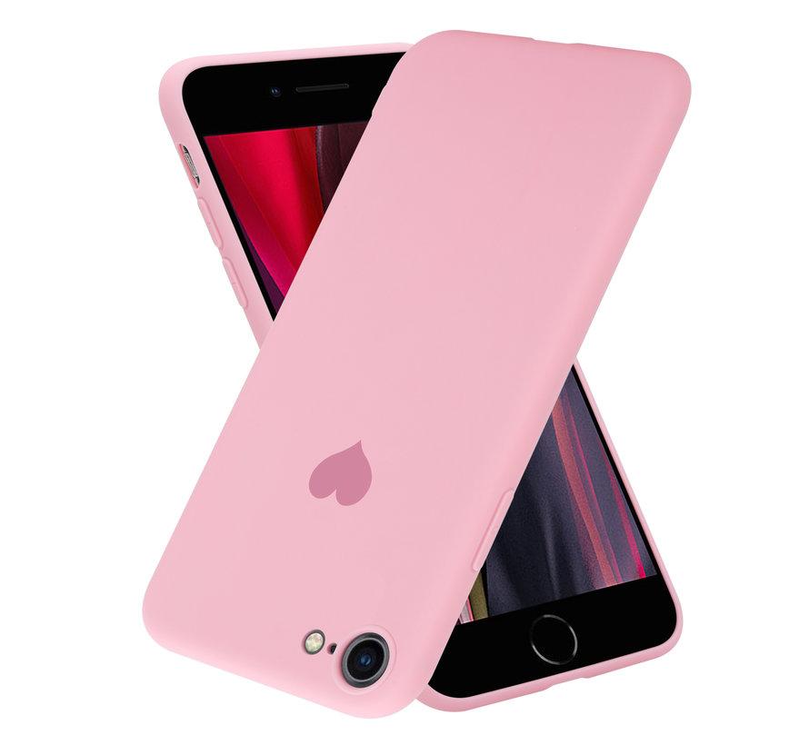 ShieldCase LOVE Silicone case iPhone 7 / 8 (roze)
