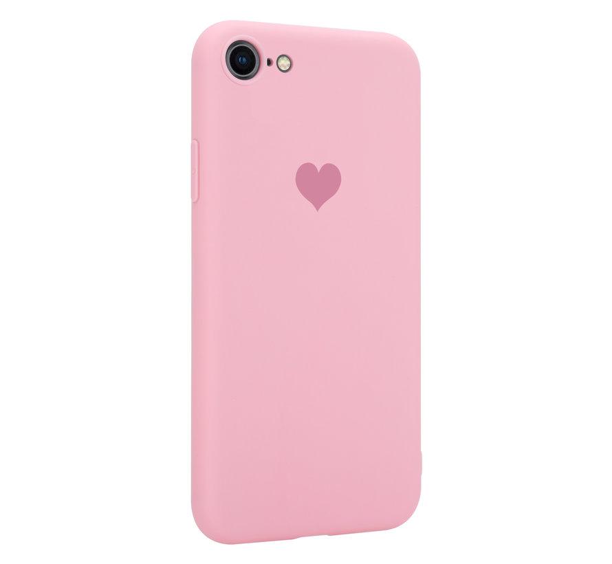 ShieldCase LOVE Silicone case iPhone SE 2020 (roze)