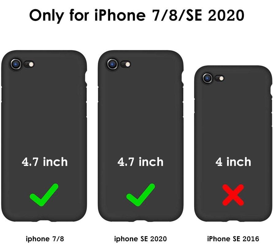 ShieldCase LOVE Silicone case iPhone SE 2020 (zwart)