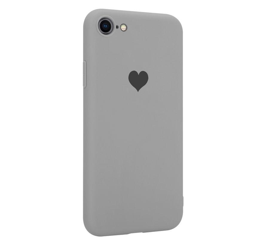 ShieldCase LOVE Silicone case iPhone SE 2020 (grijs)