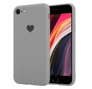 ShieldCase® Sweetheart silicone hoesje iPhone SE 2020 (grijs)