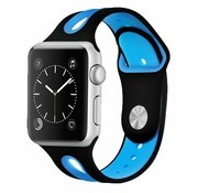 Apple Watch sport duo band (zwart/blauw)