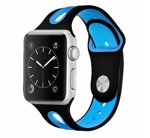 Apple Watch sport duo band (zwart/blauw)