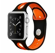 Apple Watch sport duo band (zwart/oranje)
