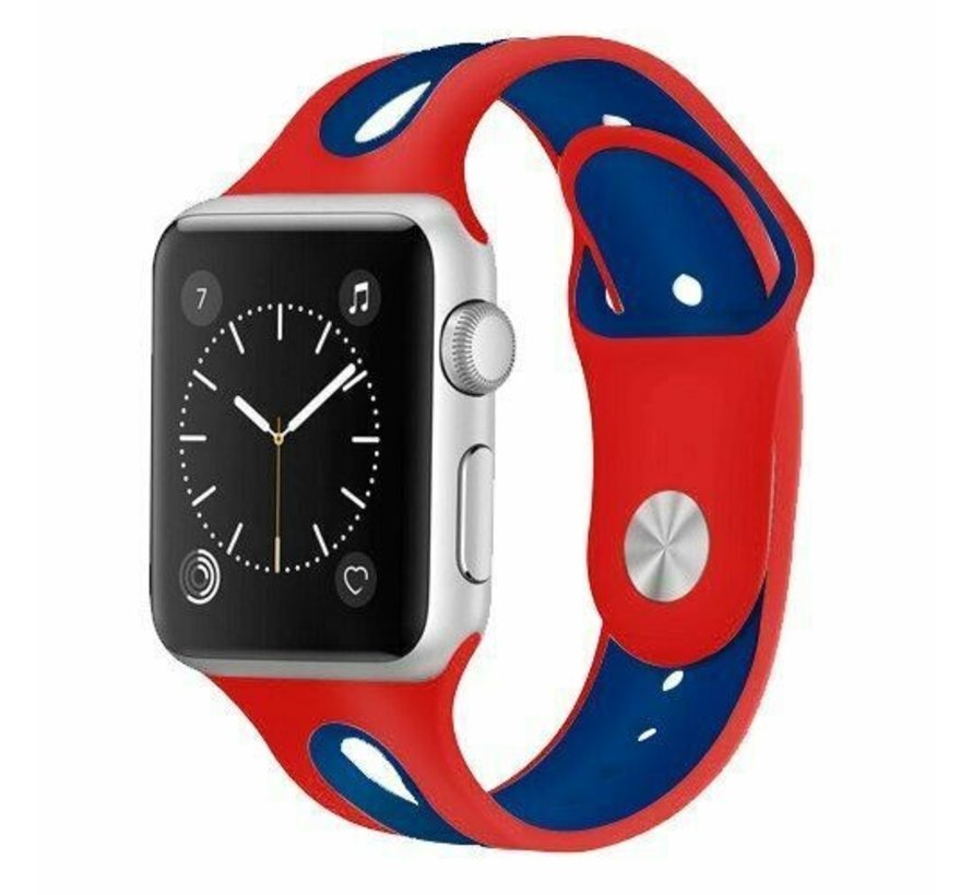 Apple Watch sport duo band (rood/blauw)