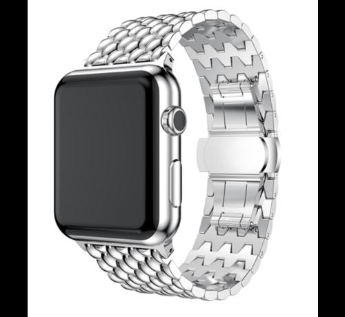 Apple Watch stalen draak band (zilver)
