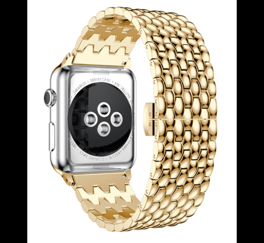 Apple Watch stalen draak band (goud)