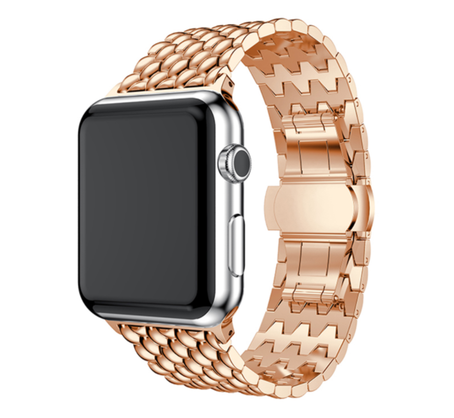 Apple Watch stalen draak band (rosé goud)