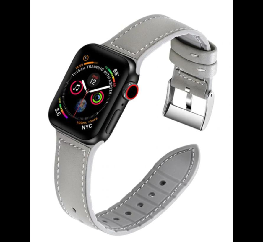 Apple Watch bandje leer (grijs)