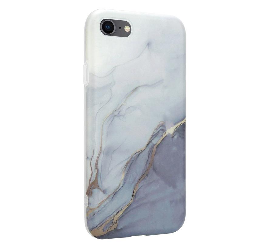 ShieldCase iPhone 7 / 8 hoesje marmer (wit/grijs)