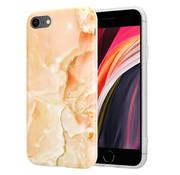 ShieldCase® iPhone SE 2020  hoesje marmer (oranje)