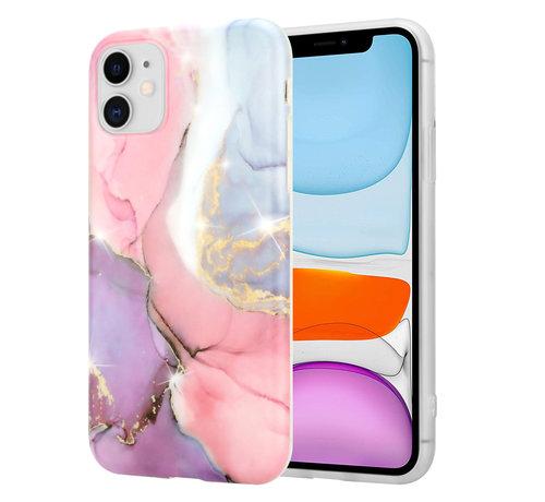 ShieldCase® ShieldCase Lovely Lila Marmer iPhone 11 hoesje