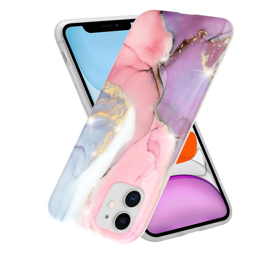 ShieldCase Lovely Lila Marmer iPhone 11 hoesje