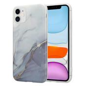 ShieldCase® iPhone 11 hoesje marmer (wit/grijs)