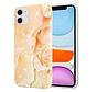 ShieldCase Peachy Dreamy Marmer iPhone 11 hoesje (oranje)