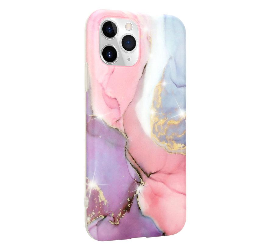 ShieldCase Marmeren iPhone 11 Pro hoesje (lila/roze)