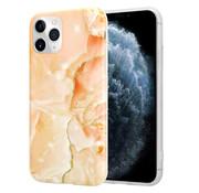 ShieldCase® Marmeren iPhone 11 Pro Max hoesje (oranje)