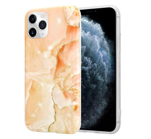 ShieldCase® ShieldCase Marmeren iPhone 11 Pro Max hoesje (oranje)