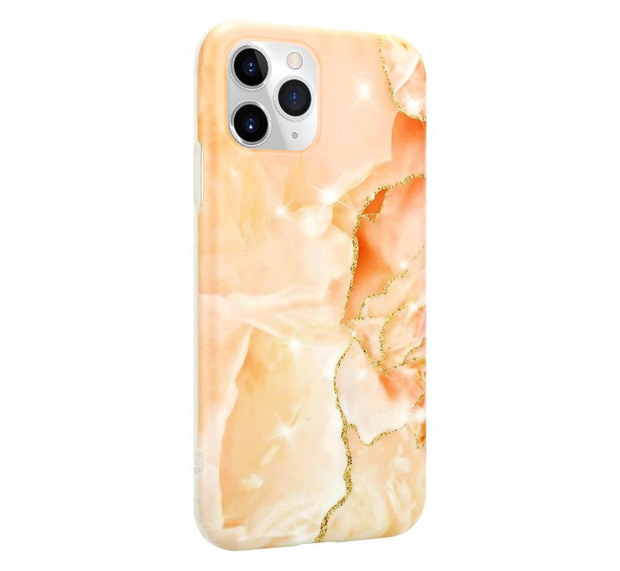 ShieldCase Marmeren iPhone 11 Pro Max hoesje (oranje)