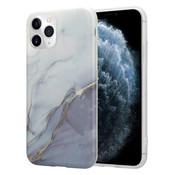 ShieldCase® Marmeren iPhone 11 Pro Max hoesje (wit/grijs)