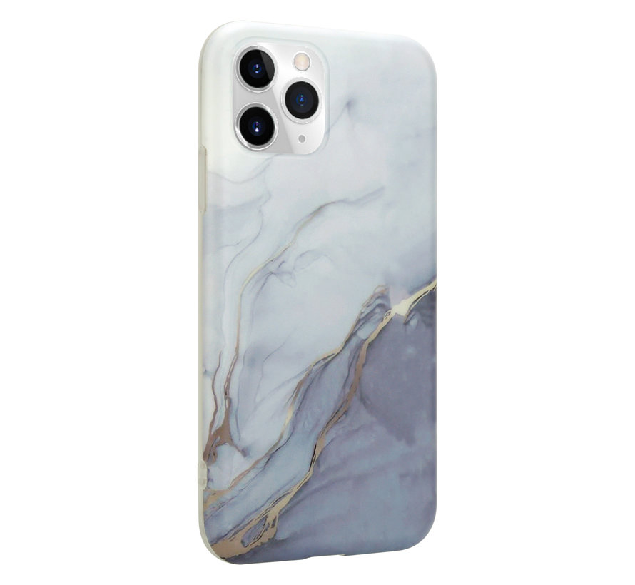 ShieldCase Marmeren iPhone 11 Pro Max hoesje (wit/grijs)