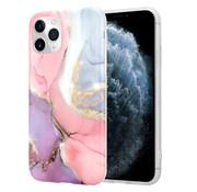 ShieldCase® Marmeren iPhone 11 Pro Max hoesje (lila/roze)