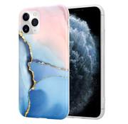 ShieldCase® Magical Gold Marmer iPhone 11 Pro Max hoesje (roze/blauw)