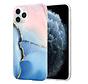 ShieldCase Marmeren iPhone 11 Pro Max hoesje (roze/blauw)