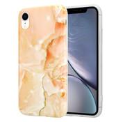 ShieldCase® Peachy Dreamy Marmer iPhone Xr hoesje (oranje)
