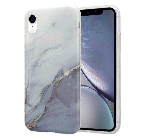 ShieldCase® ShieldCase iPhone Xr hoesje marmer (wit/grijs)