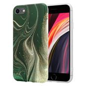 ShieldCase® Marmeren iPhone 7 / 8 hoesje met camerabescherming (groen)