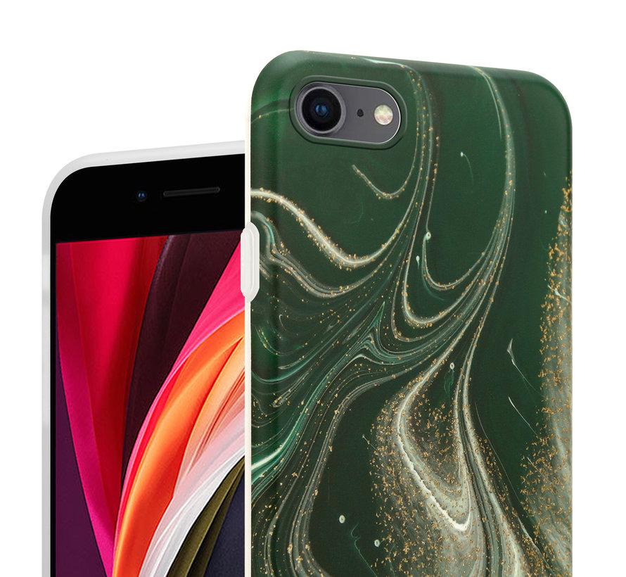 ShieldCase Marmeren iPhone 7/ 8 hoesje met camerabescherming (groen)