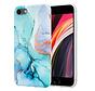 ShieldCase Marmeren iPhone 7/ 8 hoesje met camerabescherming (groen/blauw)